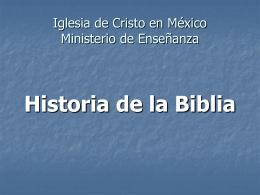 Ministerio de Enseñanza Introducción a la Biblia