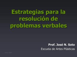 Estrategias para la resolución de Problemas