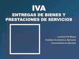 Entregas de bienes y prestaciones de servicios (I