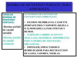 BOMBA DE MUESTREO PORTATIL PARA AEROSOLES