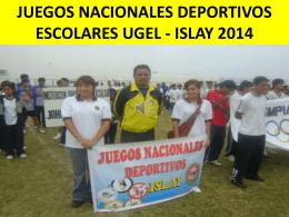 JUEGOS NACIONALES DEPORTIVOS ESCOLARES ISLAY 2014