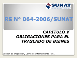RESOLUCIÓN DE SUPERINTENDENCIA N° 064