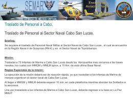 Traslado de Personal a Cabo - SEMARV