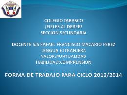 COLEGIO TABASCO ¡ FIELES AL DEBER! SECCION