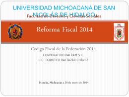 Reforma Fiscal 2014 - Facultad de Contaduría y