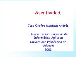 12. Asertividad. - UPV Universitat Politècnica de
