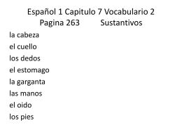 Espanol 1 Capitulo 2 Vocabulario 1 Describing