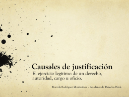 Causales de justificación