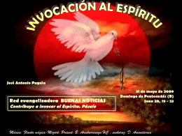 Invocación al Espíritu. Texto:PAGOLA