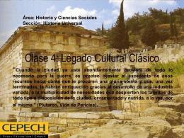 Clase 4: Legado Cultural Clásico