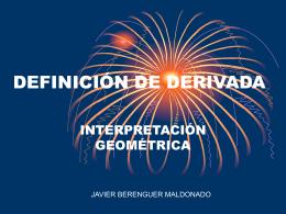 DEFINICIÓN DE DERIVADA - Web do IES Rafael Puga