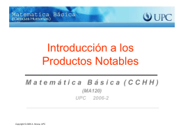 Introducción a Productos Notables.