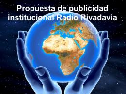 Propuesta de publicidad institucional Radio