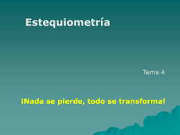 Estequiometrìa - Parciales Ingenieria
