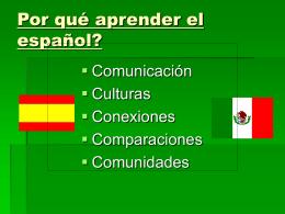 Por qué aprender el español?