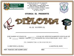 Se concede este certificado de reconocimiento, el