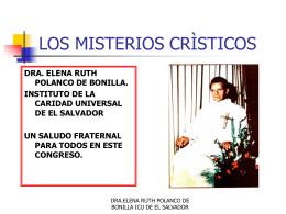 LOS MISTERIOS CRÌSTICOS - Gran Fratervidad Tao