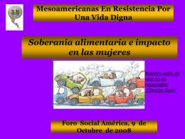 Mesoamericanas En Resistencia Por Una Vida Digna