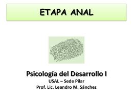 ETAPA ANAL - Psicología del Desarrollo I