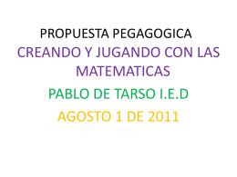 PROPUESTA PEGAGOGICA