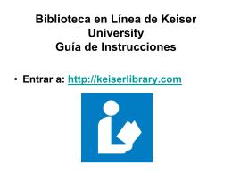 Biblioteca en Línea de Keiser University Guía de