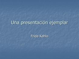 Una presentación ejemplar