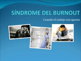 SÍNDROME DEL BURNOUT - Estudios socioreligiosos