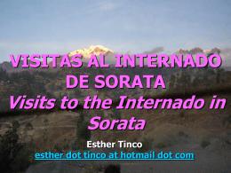 VISITAS AL INTERNADO DE SORATA