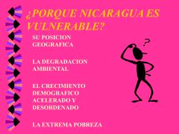 PORQUE NICARAGUA ES VULNERABLE
