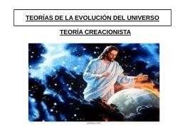 TEORÍAS DE LA EVOLUCIÓN DEL UNIVERSO