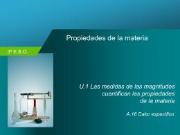A.16.- Calor específico, aplicaciones prácticas