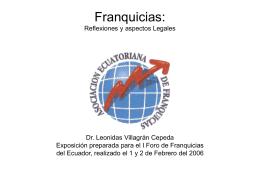 Franquicias: Reflexiones y aspectos Legales