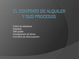 El contrato de alquiler y sus procesos