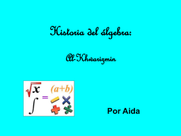 Histora del álgebra