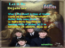 Let It be - Beatles(id=2039)