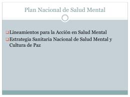 SALUD MENTAL - Clas Chancayllo
