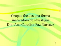 Grupos focales una forma innovadora de investigar