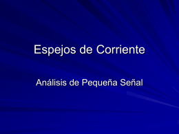 Espejos de corriente - Electrical and Computer