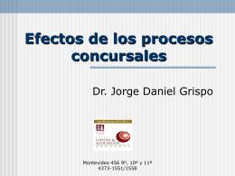 Efectos de los procesos concursales