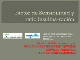 Factor de Sensibilidad y ratio insulina