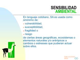 SENSIBILIDAD AMBIENTAL - Bienvenidos a la portada