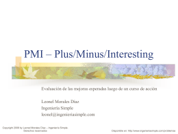 PMI – Plus/Minus/Interesting