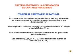 CRITERIO OBJETIVO EN LA COMPARACION NO INMEDIATA