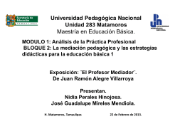Universidad Pedagógica Nacional Unidad 283