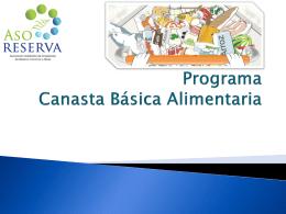 Programa Canasta Básica Alimentaria -