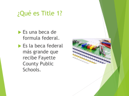 What is Title 1? - WE ARE... CRAWFORD!