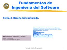 Tema 4.- Diseño Estructurado