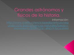 Grandes astrónomos y físicos de la historia.
