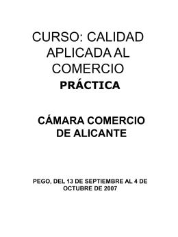 CURSO: CALIDAD APLICADA AL COMERCIO