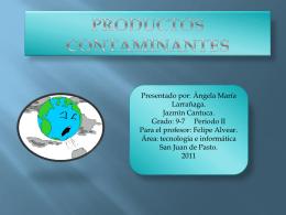 Productos contaminantes